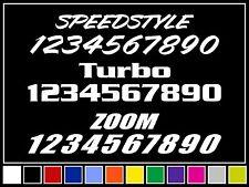 Custom Vinyl Race Numbers Racing Registration Decal Stickers Jdm Illmotion Sport