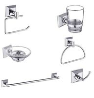 Chrome Made Loxton Bathroom Fittings Wall Mounted Bath Accessory Set