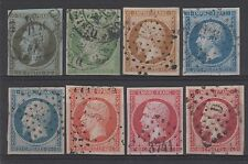 "FRANCE STAMP 11 / 17B "" NAPOLEON III SERIE 8 TIMBRES "" OBLITERES TB / TTB  N600"