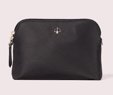 Kate Spade Taylor Medium Nylon Dome Pouch Cosmetic Bag Case ~NWT~ Black