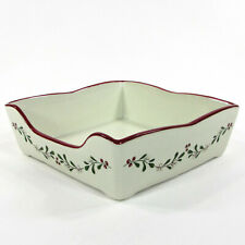 "Better Homes and Gardens MISTLETOE 7.5"" Square Napkin Holder Heritage Collection"
