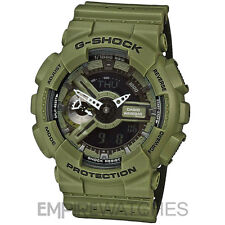 **NEW** CASIO G-SHOCK MENS MILITARY GREEN ARMY WATCH - GA-110LP-3A - RRP £140
