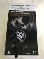 Whirl-a-Motion Ghost Projection Unit Light Chasing Ghosts Halloween Fall Deco