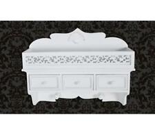 New! Hand-Crafted Shabby Chic Wall Shelf / Peg 3 Drawers 2 Hooks Bedroom Storage