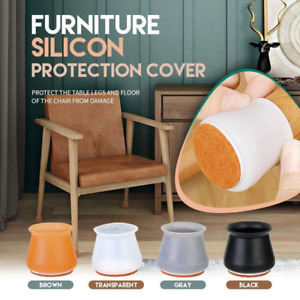 4 Color Chair Leg Silicone Protector Hardwood Floors Ruby Slider Fits All Shapes