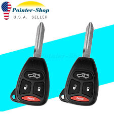 2 Replacement keyless Entry Remote Car Key Fob for Jeep Chrysler Dodge