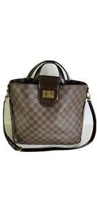 Authentic Louis Vuitton Cabas Rosebery Damier Ebene Canvas Satchel Shoulder Bag
