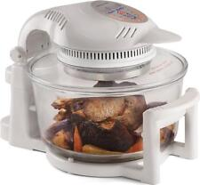 Andrew James 12 LTR Premium White Digital Halogen Oven Cooker With Hinged Lid