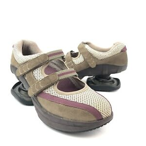 Z-Coil Mary Jane Style Suede Mesh Pain Relief Orthopedic Comfort Shoes Size 7