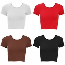 Cotton Blend Crew Neck Other Women's Tops
