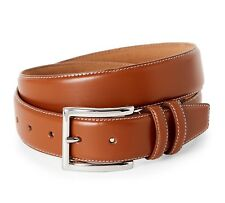 COLE HAAN MEN'S BELT FEATHERED EDGE LEATHER BELT IN TAN NEW W/TAGS