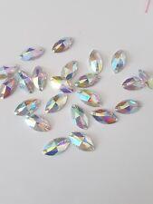 Claro AB 17 mm Coser en puntada Joya Gema De Cristal Estrás grano de cristal de danza