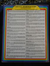 CRYSTAL AWARENESS GUIDE BY Legion of Light  NEW Laminated 8 x 10
