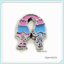 10pcs Smurfs Floating Charms Fits For Glass Living Memory Locket FC1661