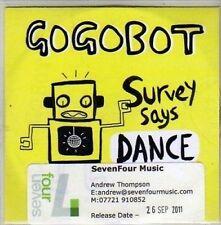 (CA891) Go Go Bot, Survey Says Dance - 2011 DJ CD