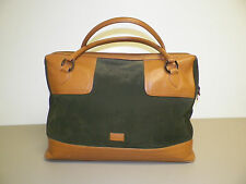 WOMAN'S BCBG MAX AZRIA ITALIAN LEATHER TRAVEL DUFFEL CARRY ON GYM BAG GREEN