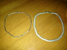 LOT OF 2 STERLING SILVER NECKLACES