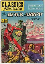 The Black Arrow Classics Illustrated #31 Hrn 125 Robert Louis Stevenson Vg+
