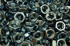 (80) Hex Jam Nut 3/4-16 Fine Thread - Zinc Plated - Thin Nuts
