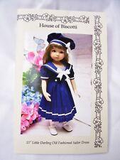 """Effner 13"""" Little Darling Pattern for Sailor Dress and Hat"""