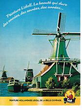 PUBLICITE ADVERTISING 044   1979    LIDOLL   peinture HOLLANDAISE