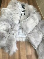 Ladies Faux Fur Pelted Gilet Uk Size Small By New Look