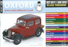 OXFORD DIECAST OCTOBER 2017 - JANUARY 2018 RELEASE PROGRAMME CATALOGUE
