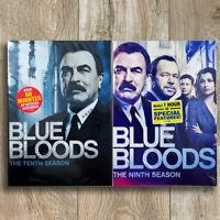 Blue Bloods Season  9 & 10 (DVD,9-Disc,Region 1)Fast shippingUSA sell New