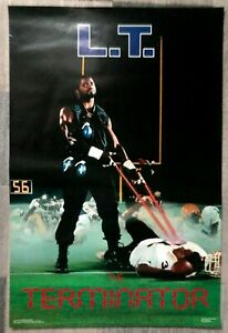 "1986 Lawrence Taylor ""L.T."" Costacos Brothers Vintage Poster ex condition"