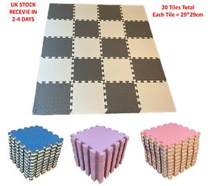 20EVA Interlocking Soft Foam Play Mat Kids Gym Yoga Exercise Fitness Floor Tiles