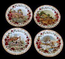 A1 -ROYAL ALBERT SERIE 4 PIATTI PORCELLANA QUATTRO STAGIONI FOUR SEASON F.ERRILL
