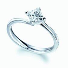 Princess Platinum Excellent Cut Solitaire Fine Diamond Rings