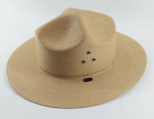 Stratton National Park Service Self Forming Straw Hat In Box Size 7 NPS S44