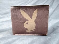 Playboy men's leather bi fold wallet