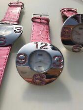 pink strap watch ladies   20 pieces . wholesale , joblot