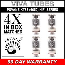 New Current Matched Quad (4) Psvane KT88 (6550) HiFi Series Vacuum Tubes Hi-Fi