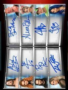Wwe Topps Slam Digital Bowman Ultimate sig Booklet Bliss/Sasha/Becky/Trish 15cc