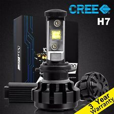 2 Pcs H7 CREE LED Headlight Conversion Kit 60W 6000K White 7200LM HID Light Bulb