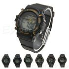 Men Rubber Band Dial Quartz Analog Digital LED Waterproof Sport Wrist Watch New