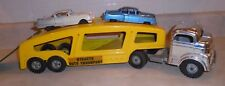 1950s Structo Auto Transport Truck, Vintage Original with 2 Rare Cadillacs