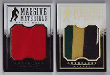(2) 2015-16 Anthology Brett Hull Massive Materials Jumbo Jersey Patch Lot /99