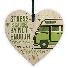 Novelty Caravan Sign Campervan Gifts Wooden Heart Funny Plaque Friendship Gifts
