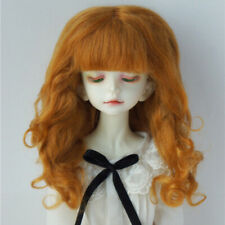 1/4 7-8inch Doll Wigs Princess Long Curly Mohair BJD Wigs 7 Colors Ginger Ivory
