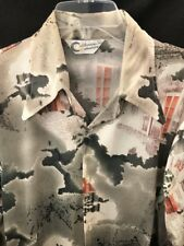 Vtg 70's California Casualaire Custom French Cuff Disco Shirt~Med