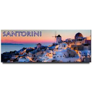 Santorini panoramic fridge magnet Greece travel souvenir