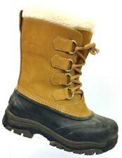 Sorel Tan/Black Waterproof Snow Boots NL1004-280 Women's 6