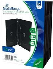 10 Mediarange DVD Hüllen 3er Box 14 mm für je 3 BD / CD / DVD schwarz