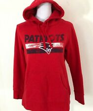 NFL Pro Line New England Patriots Hoodie Sweatshirt Red Womens Size M Vintage