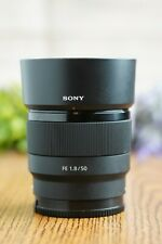 Sony FE 50mm f/1.8 Lens SEL50F18F E Mount with Hood and UV Filter
