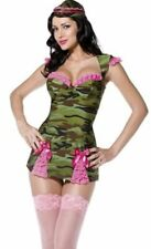 Sexy Army Soldier Military Camourflage Costume Fancy Dress Hen Party Cosplay